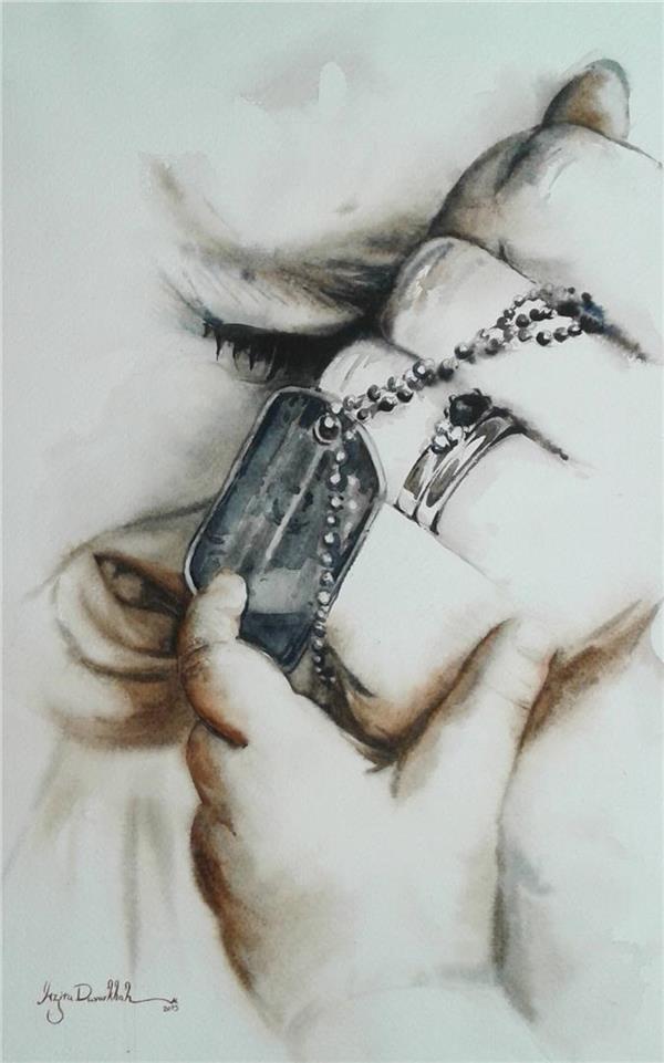 هنر نقاشی و گرافیک نقاشی امید azita love , war , Peace , Hope , watercolor , azita davarkhah