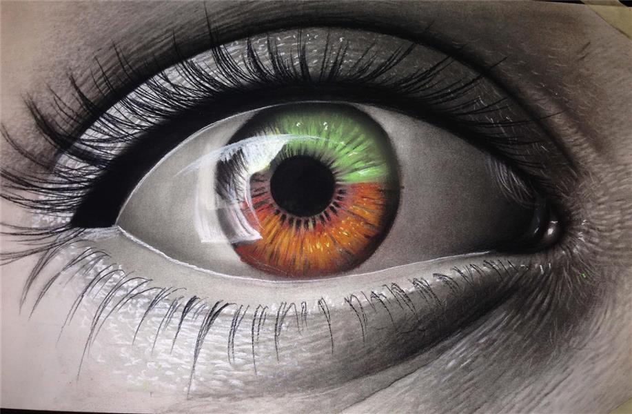 هنر نقاشی و گرافیک نقاشی چشم Arezoosn