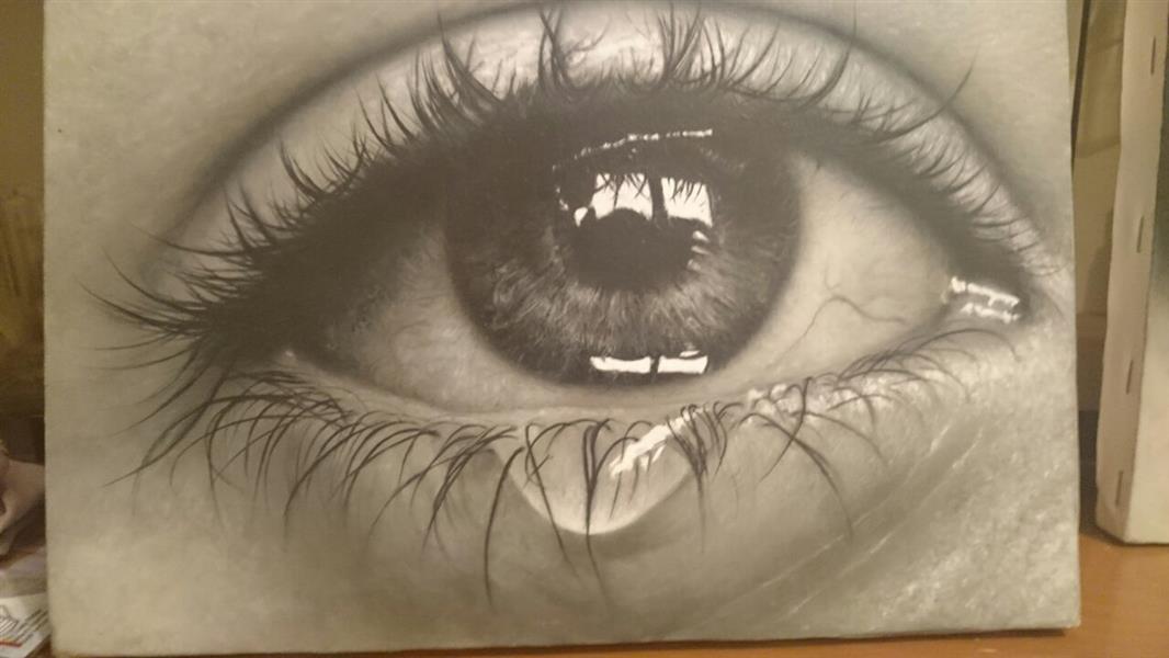 هنر نقاشی و گرافیک نقاشی چشم Hadipakati
