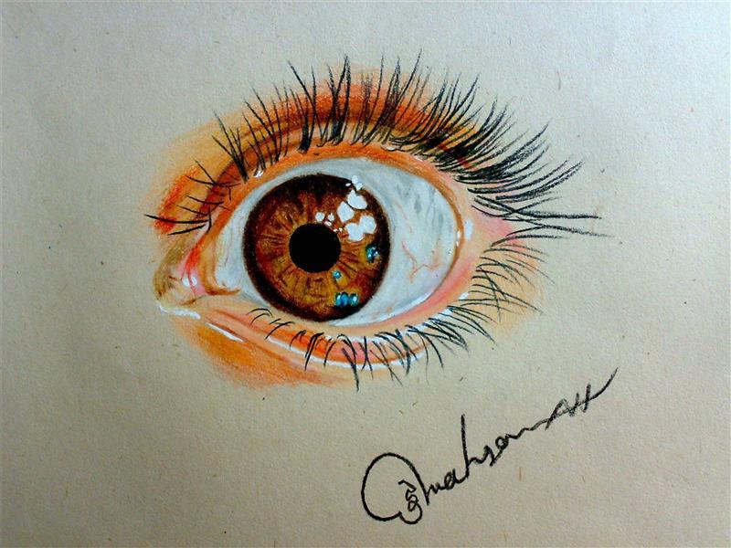 هنر نقاشی و گرافیک نقاشی چشم mahsa
