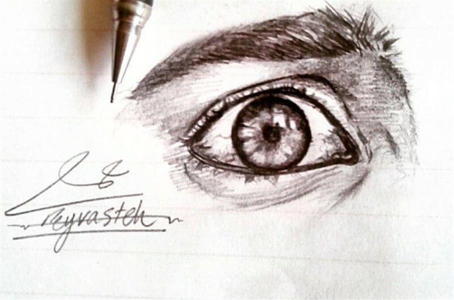 هنر نقاشی و گرافیک نقاشی چشم Papirouse