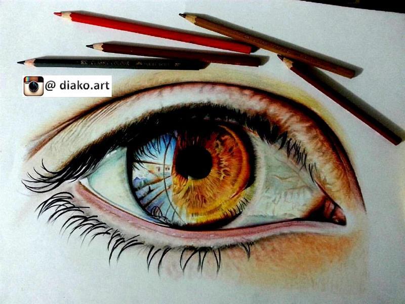 هنر نقاشی و گرافیک نقاشی چشم دیاکو