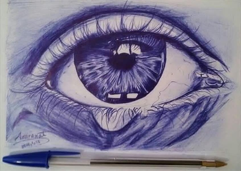 هنر نقاشی و گرافیک نقاشی چشم azaranat