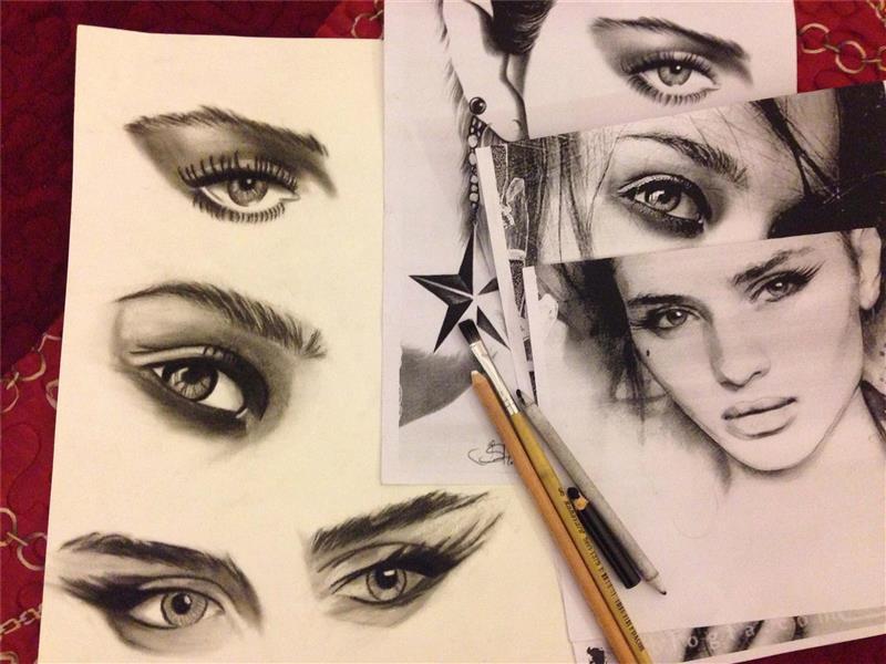 هنر نقاشی و گرافیک نقاشی چشم nil