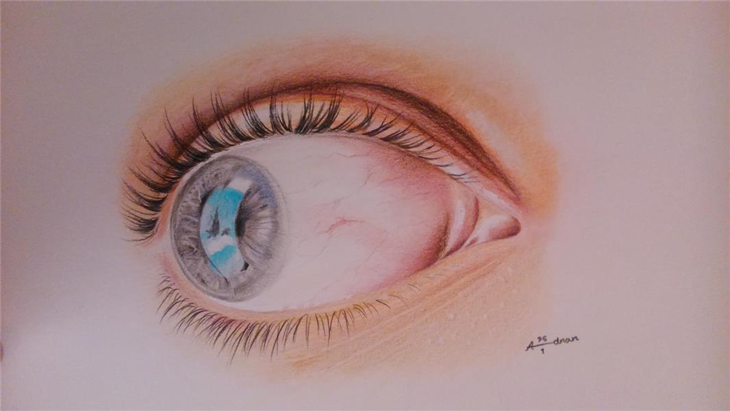 هنر نقاشی و گرافیک نقاشی چشم Adnan
