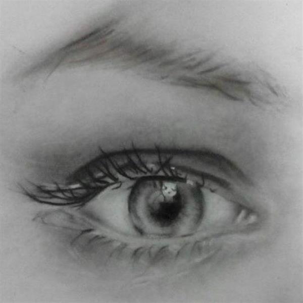 هنر نقاشی و گرافیک نقاشی چشم مریم