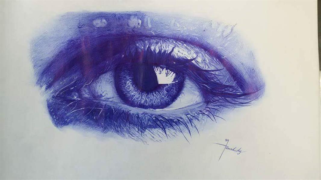 هنر نقاشی و گرافیک نقاشی چشم منوچهر رشیدی