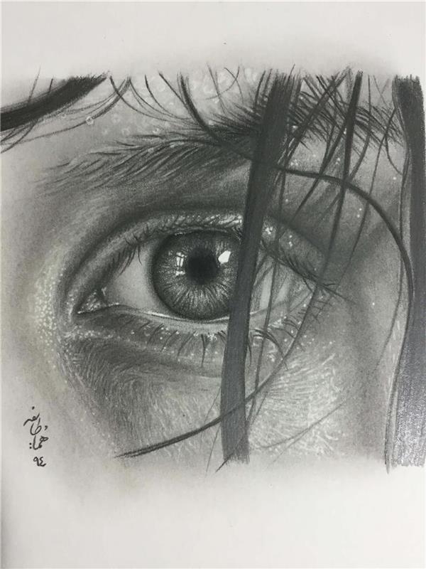 هنر نقاشی و گرافیک نقاشی چشم هما طایفه-گالری اوینا