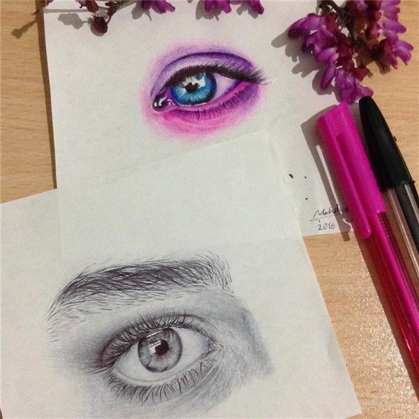 هنر نقاشی و گرافیک نقاشی چشم Mahshad