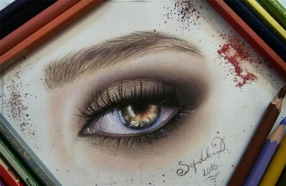 هنر نقاشی و گرافیک نقاشی چشم Sepidarts