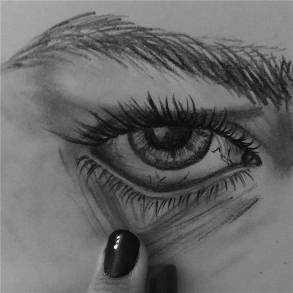 هنر نقاشی و گرافیک نقاشی چشم F-T