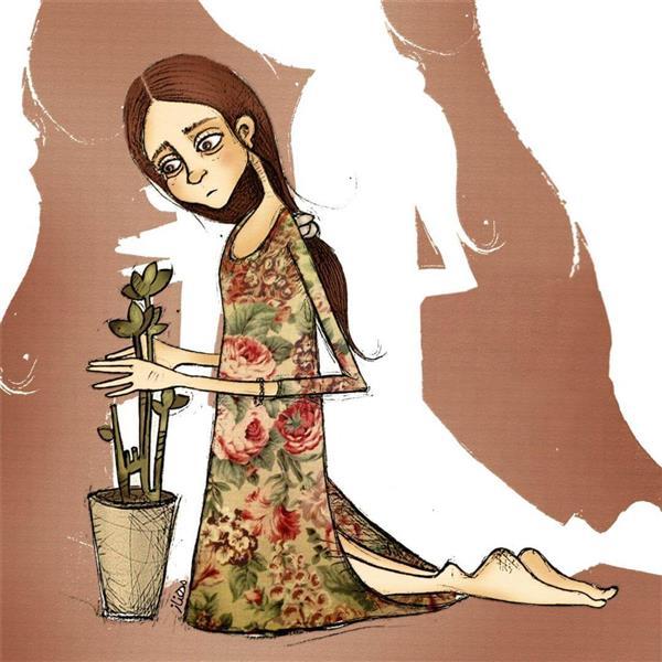 هنر نقاشی و گرافیک نقاشی گل مهناز محمدباقری