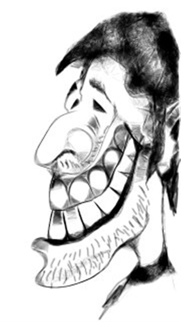 هنر نقاشی و گرافیک کاراکتر شاد خوشنویس