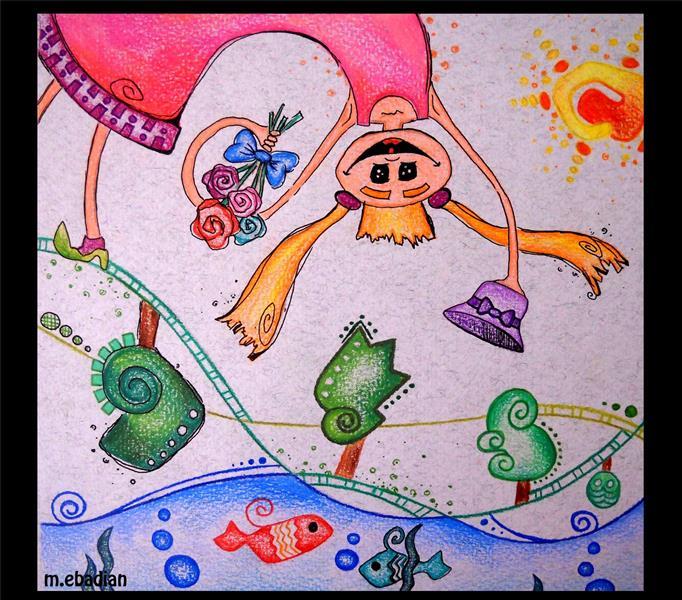 هنر نقاشی و گرافیک کاراکتر شاد mahsa