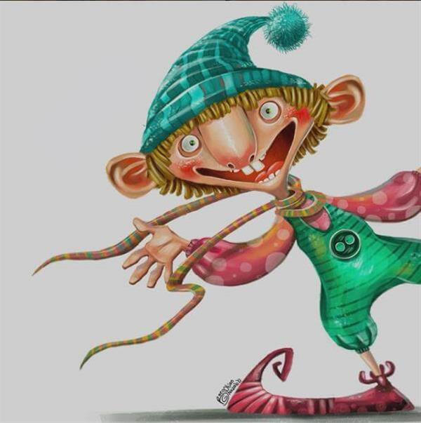 هنر نقاشی و گرافیک کاراکتر شاد غزاله