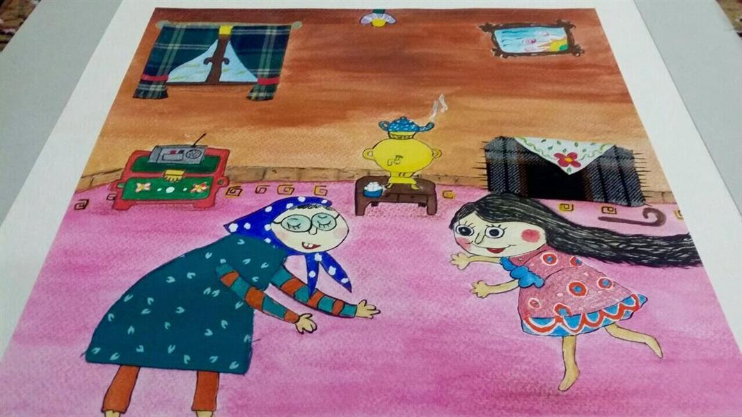 هنر نقاشی و گرافیک کاراکتر شاد Roonak