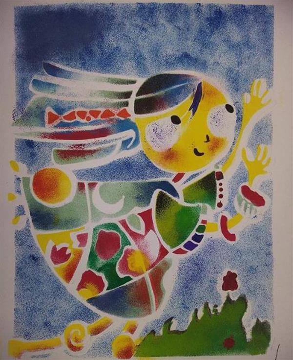 هنر نقاشی و گرافیک کاراکتر شاد fatemeh
