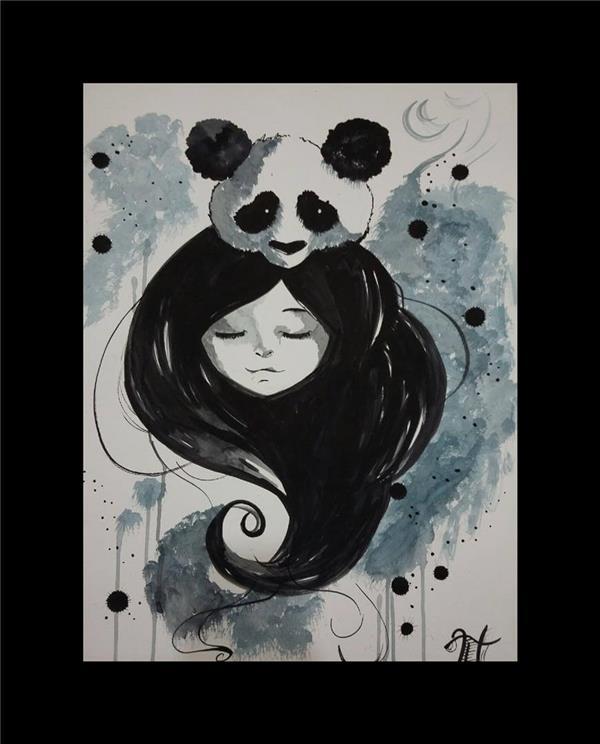 هنر نقاشی و گرافیک کاراکتر شاد nana