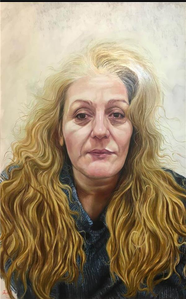هنر نقاشی و گرافیک گالری اختصاصی هادی پاکتی و آزیتا داور خواه Hadipakati  رنگ روغن مادر 70 X 100