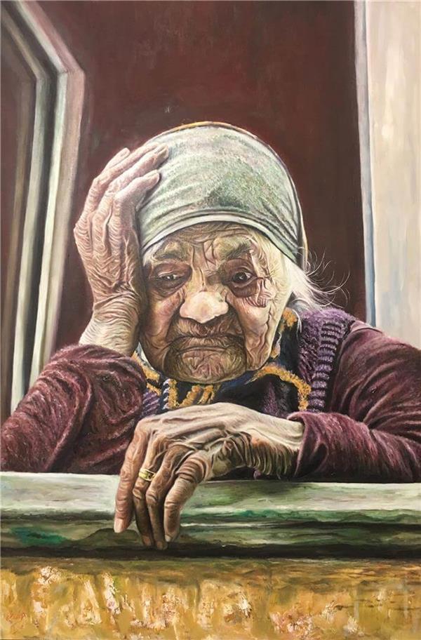 هنر نقاشی و گرافیک گالری اختصاصی هادی پاکتی و آزیتا داور خواه Hadipakati  رنگ روغن بدون عنوان 60 X 90