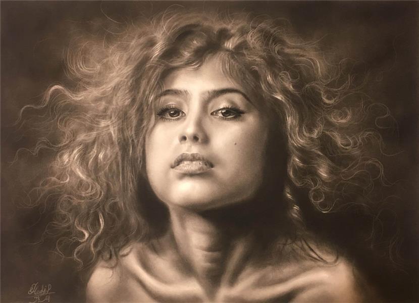 هنر نقاشی و گرافیک گالری اختصاصی هادی پاکتی و آزیتا داور خواه Hadipakati  سیاه قلم بدون عنوان 50 X 70