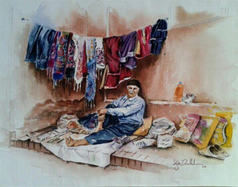هنر نقاشی و گرافیک گالری اختصاصی هادی پاکتی و آزیتا داور خواه azita Abyaneh , Vendors , watercolor , iran , azita davarkhah