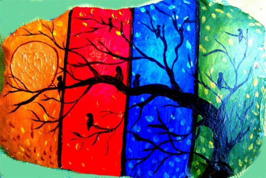 هنر نقاشی و گرافیک نقاشی جنگ رنگ ها behi