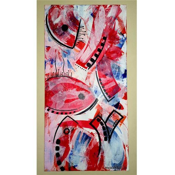 هنر نقاشی و گرافیک نقاشی جنگ رنگ ها mahsa