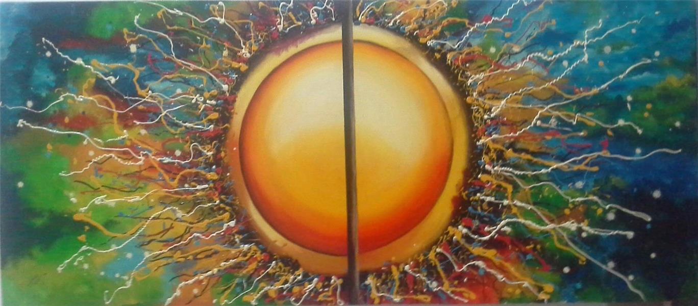 هنر نقاشی و گرافیک نقاشی جنگ رنگ ها صفورا سلطانیان