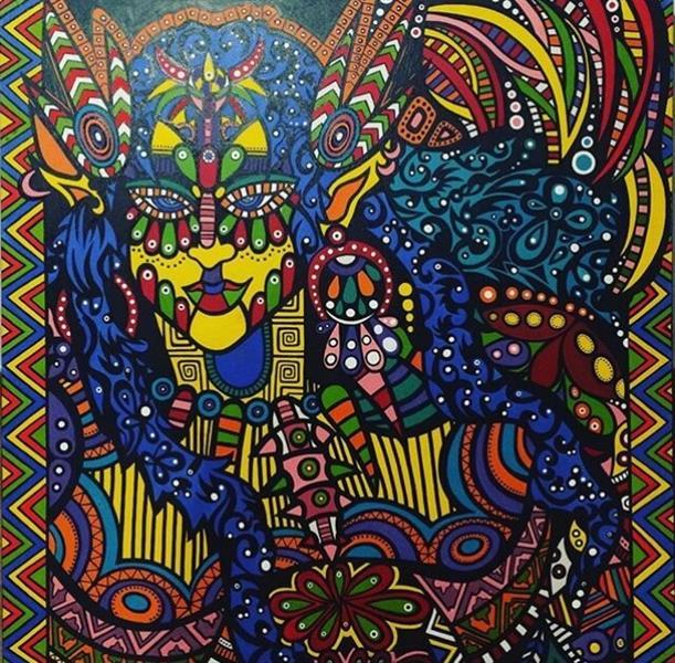 هنر نقاشی و گرافیک نقاشی جنگ رنگ ها ZarYas