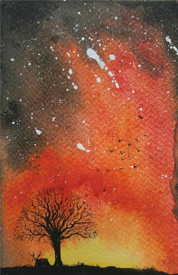هنر نقاشی و گرافیک نقاشی جنگ رنگ ها Sajede