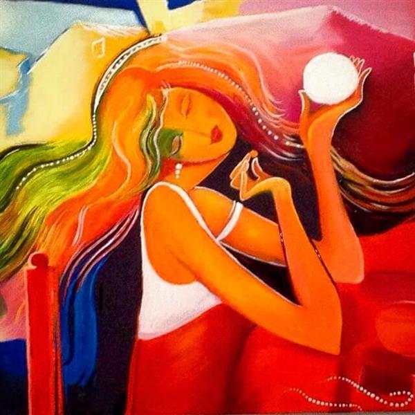 هنر نقاشی و گرافیک نقاشی جنگ رنگ ها Roonak