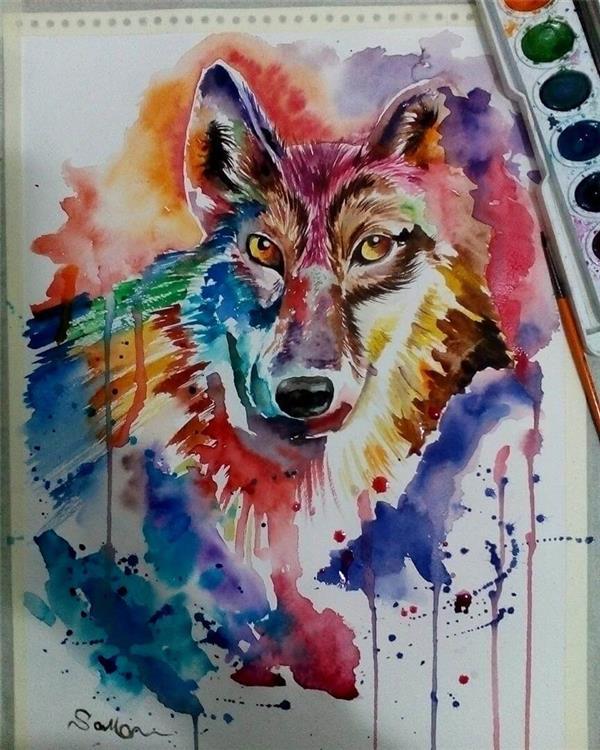 هنر نقاشی و گرافیک نقاشی جنگ رنگ ها samaart