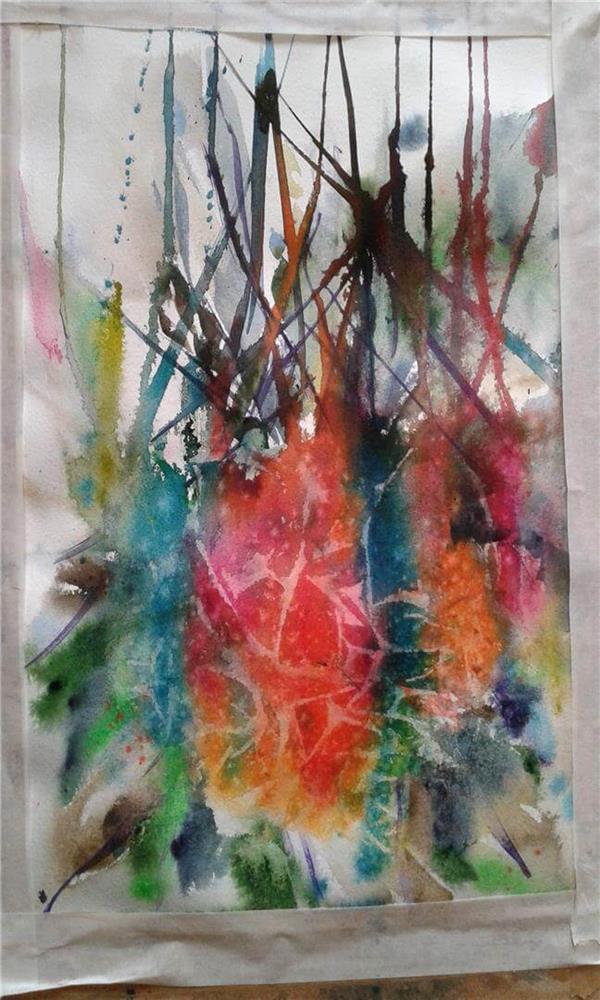 هنر نقاشی و گرافیک نقاشی جنگ رنگ ها Soroor