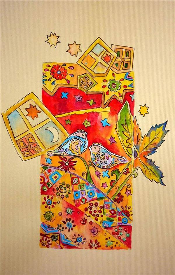 هنر نقاشی و گرافیک نقاشی جنگ رنگ ها هدیه سالمی