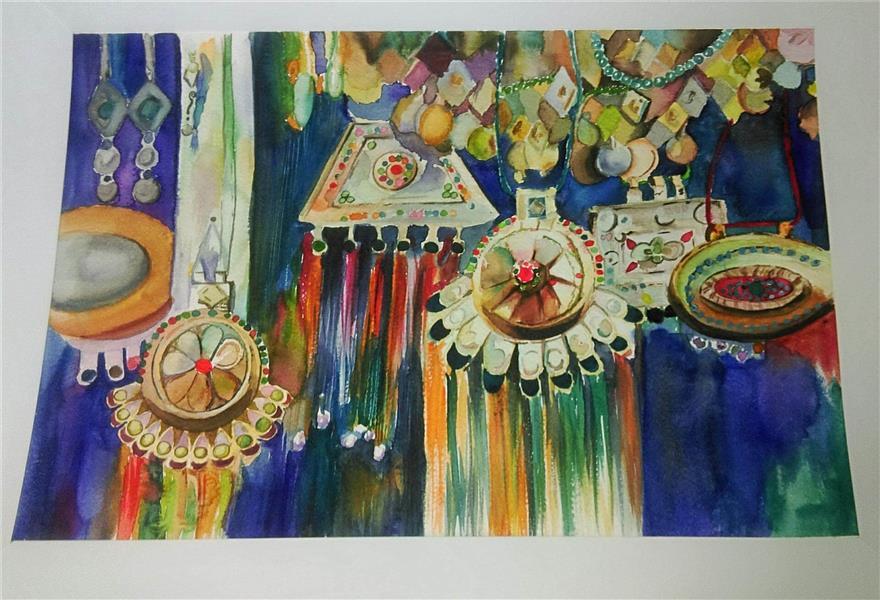 هنر نقاشی و گرافیک نقاشی جنگ رنگ ها silazpr