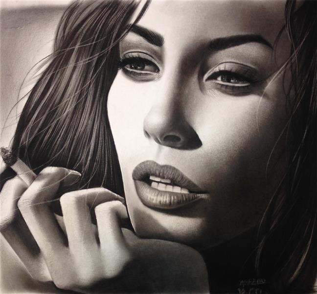 هنر نقاشی و گرافیک نقاشی پرتره (چهره) Arezoosn