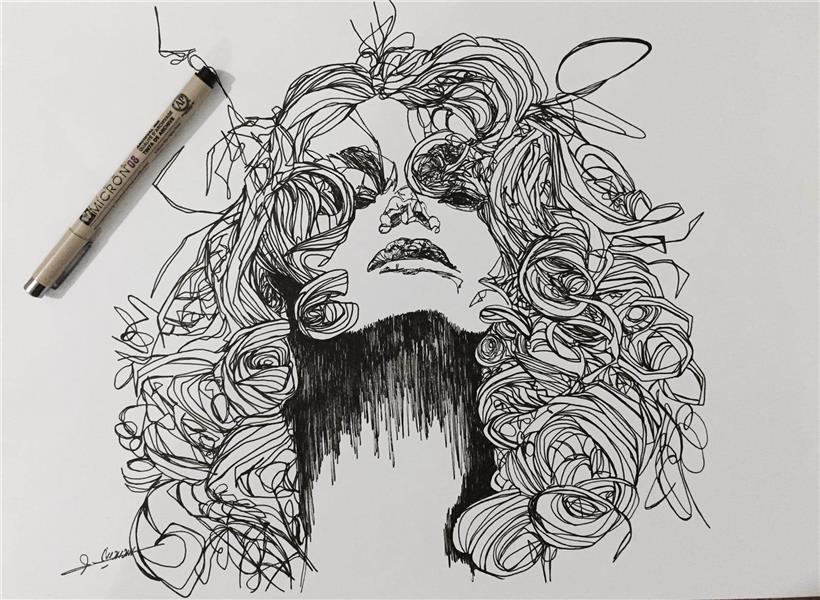 هنر نقاشی و گرافیک نقاشی پرتره (چهره) Naeiricka