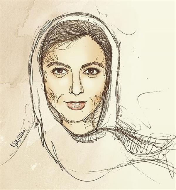 هنر نقاشی و گرافیک نقاشی پرتره (چهره) مهناز محمدباقری