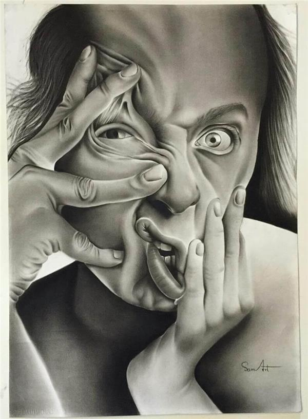هنر نقاشی و گرافیک نقاشی پرتره (چهره) SamArt