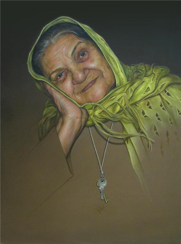 هنر نقاشی و گرافیک نقاشی پرتره (چهره) حسین عینی بخش