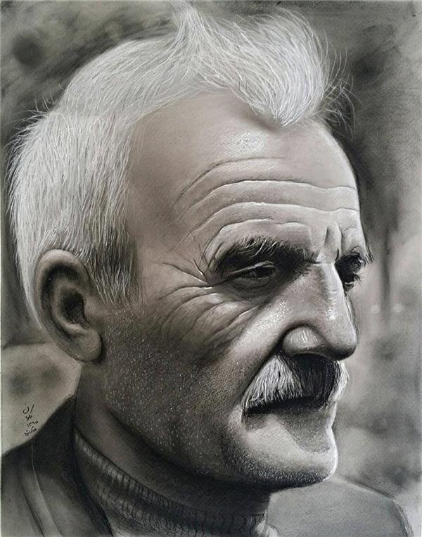 هنر نقاشی و گرافیک نقاشی پرتره (چهره) kavan استاد هیمن موکریانی