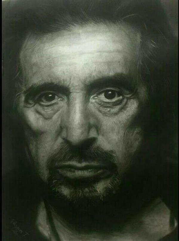 هنر نقاشی و گرافیک نقاشی پرتره (چهره) احسان طاهری
