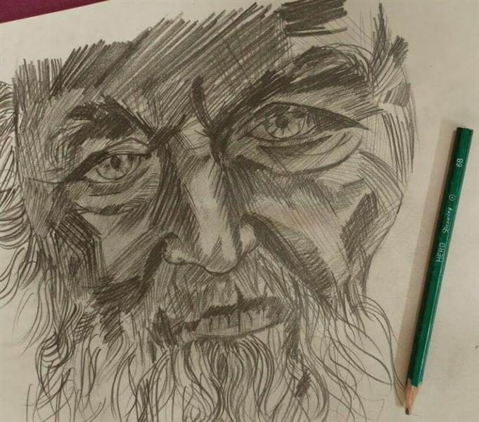 هنر نقاشی و گرافیک نقاشی پرتره (چهره) cyan