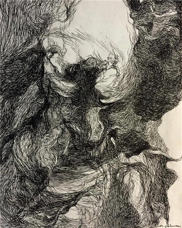 هنر نقاشی و گرافیک نقاشی سه بعدی  ghafoorian (Bewilderment. (size :25 . 35)