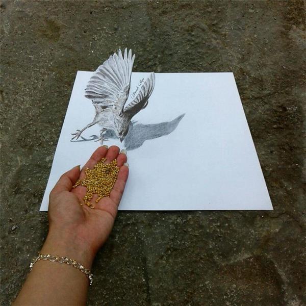 هنر نقاشی و گرافیک نقاشی سه بعدی منانه