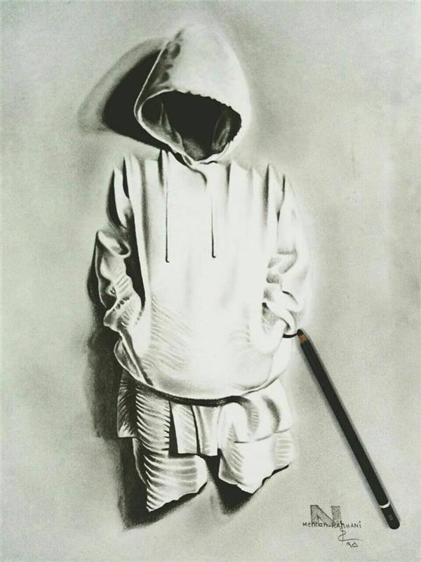 هنر نقاشی و گرافیک نقاشی سه بعدی مهران رحمانی طرح سیاه قلم سه بعدی  ابعاد 40 در30