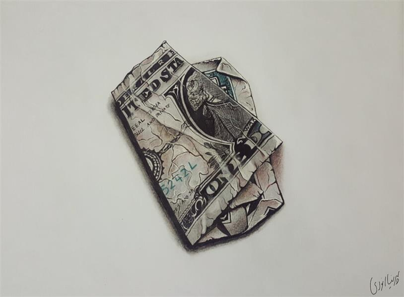 هنر نقاشی و گرافیک نقاشی سه بعدی پرنیا انوری مدادرنگ