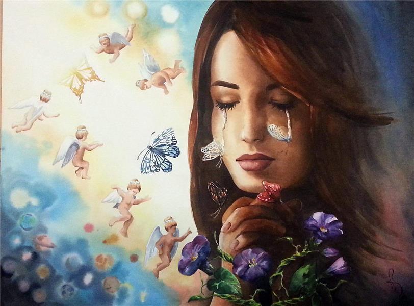 هنر نقاشی و گرافیک نقاشی بیان خویشتن azita