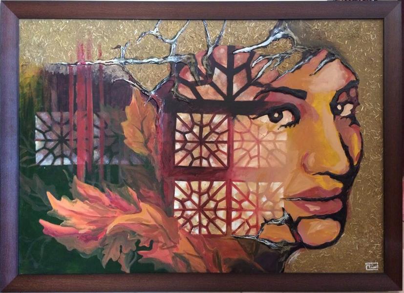 هنر نقاشی و گرافیک نقاشی بیان خویشتن ZarYas تصویر سازی اشعار بانو فروغ فرخزاد